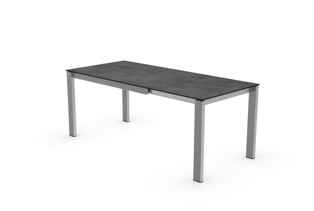 Baron extending table 160 with top Connubia ceramic or tempered glass