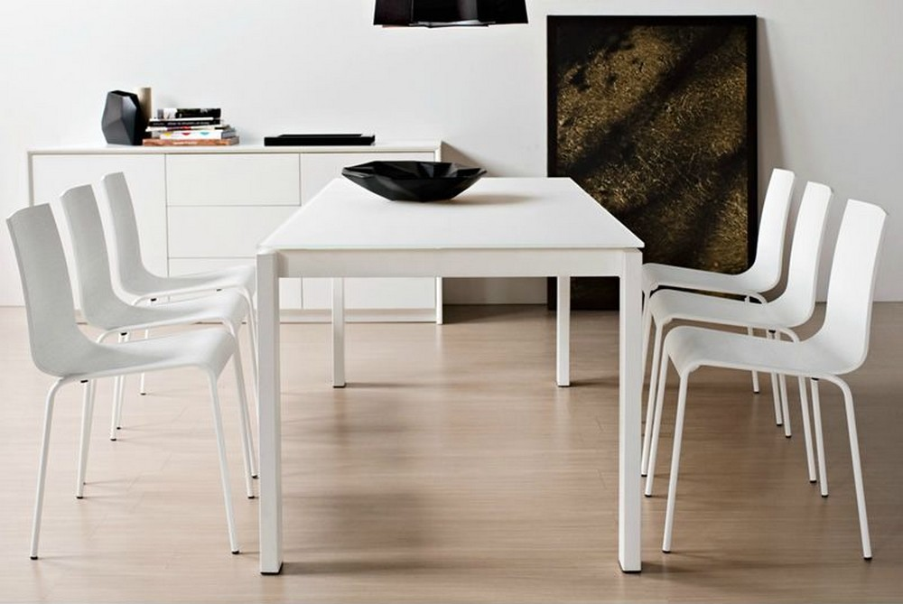 Tavolo allungabile baron 160 di connubia con piano in for Tavolo allungabile calligaris baron