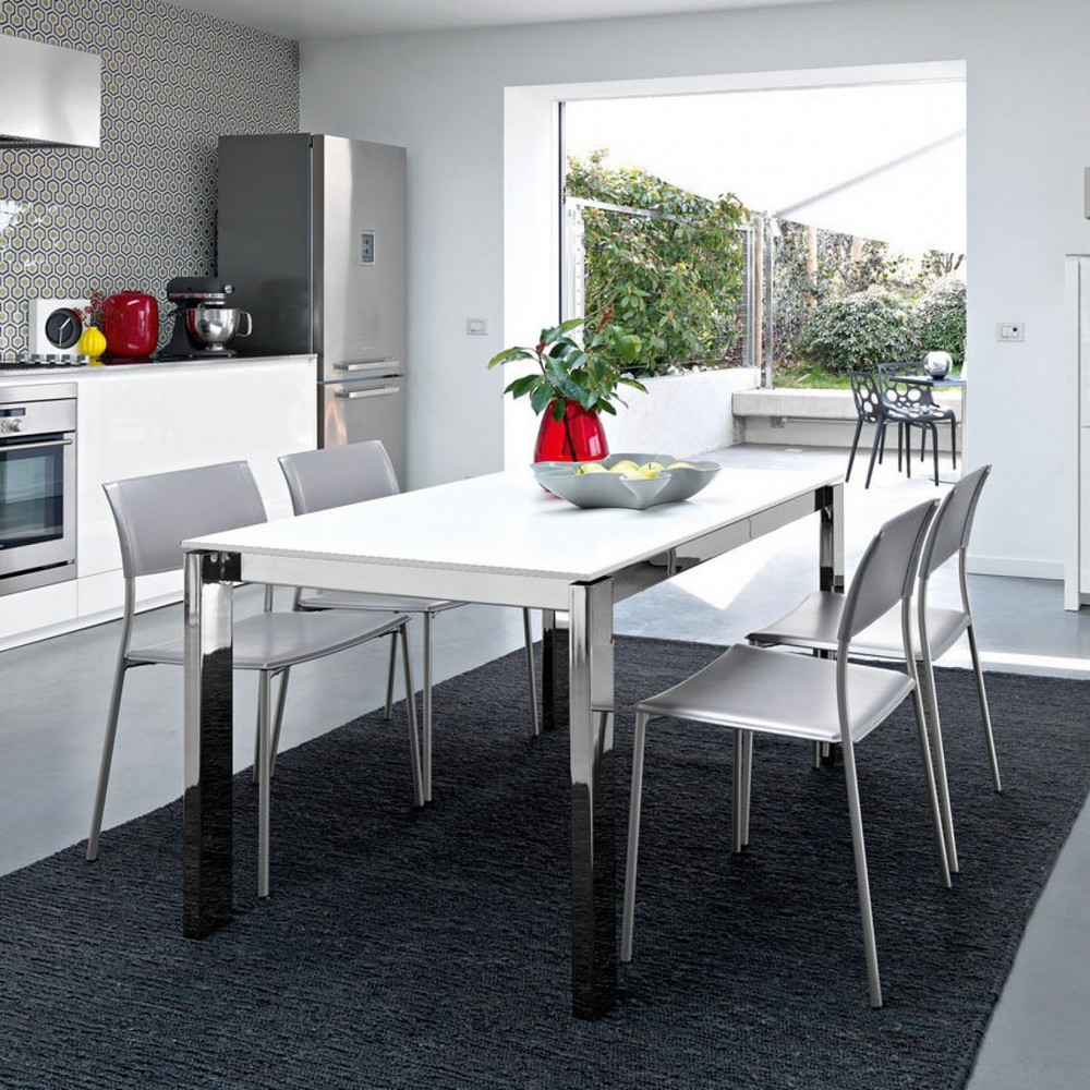 baron 160 calligaris table with glass or ceramic top