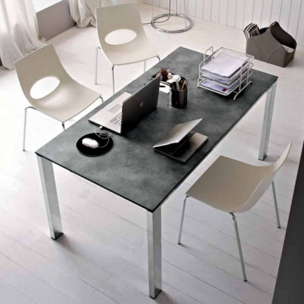 Tavolo allungabile baron 160 di connubia con piano in for Lampadari calligaris