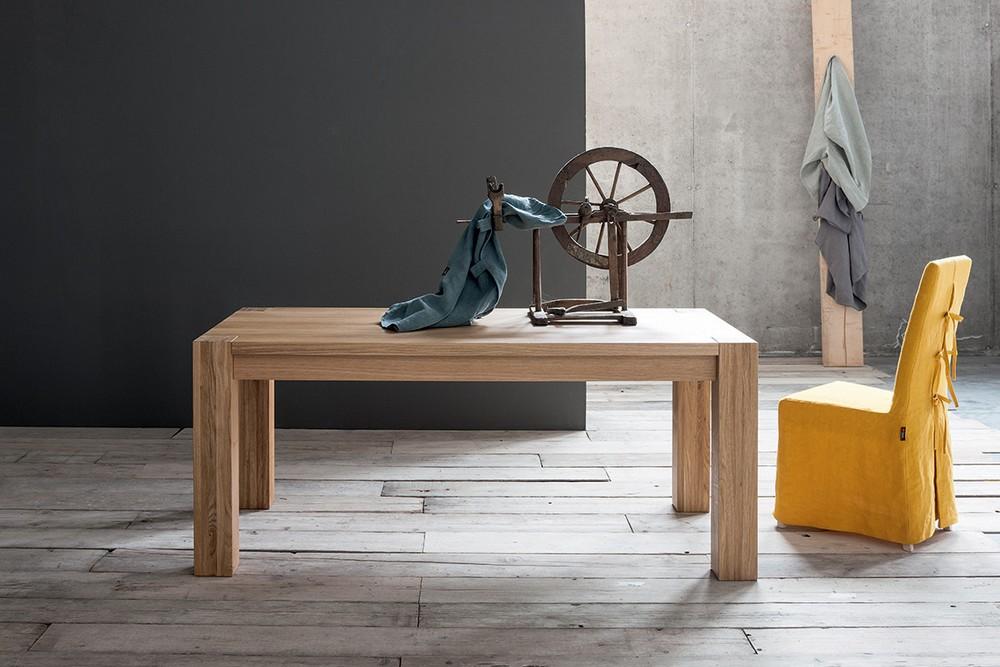 Tavolo allungabile con piano e gambe in rovere bio di sedit for Tavolo rovere design