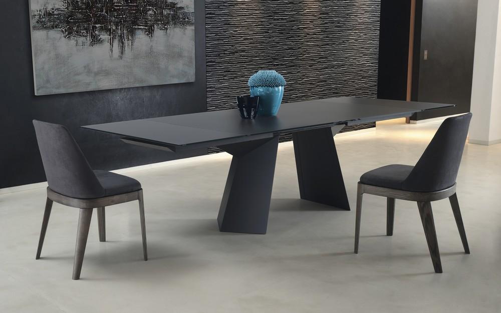 Tavolo fisso e allungabile fiandre bontempi piano in legno for Tavolo marmo design