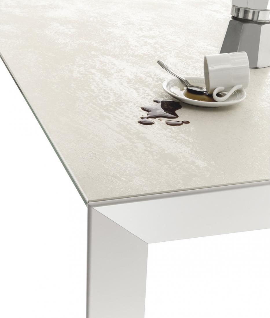 Tavolo bontempi allungabile genio con piano in legno cristallo o ...