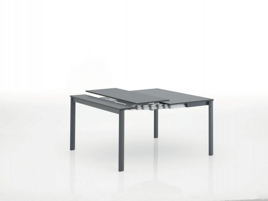 Tavolo consolle allungabile bontempi struttura alluminio for Tavolo consolle di design