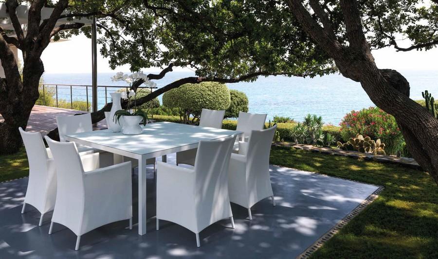 Touch tavolo quadrato di talenti per esterno - Piantana per tavolo da pranzo ...