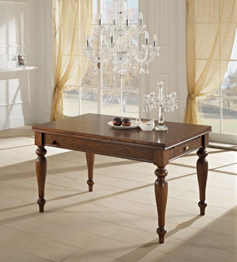 tavolo classico in legno attrezzato di benedetti