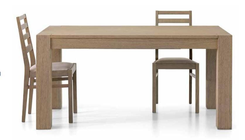 Tavolo allungabile in legno rovere naturale spazzolato