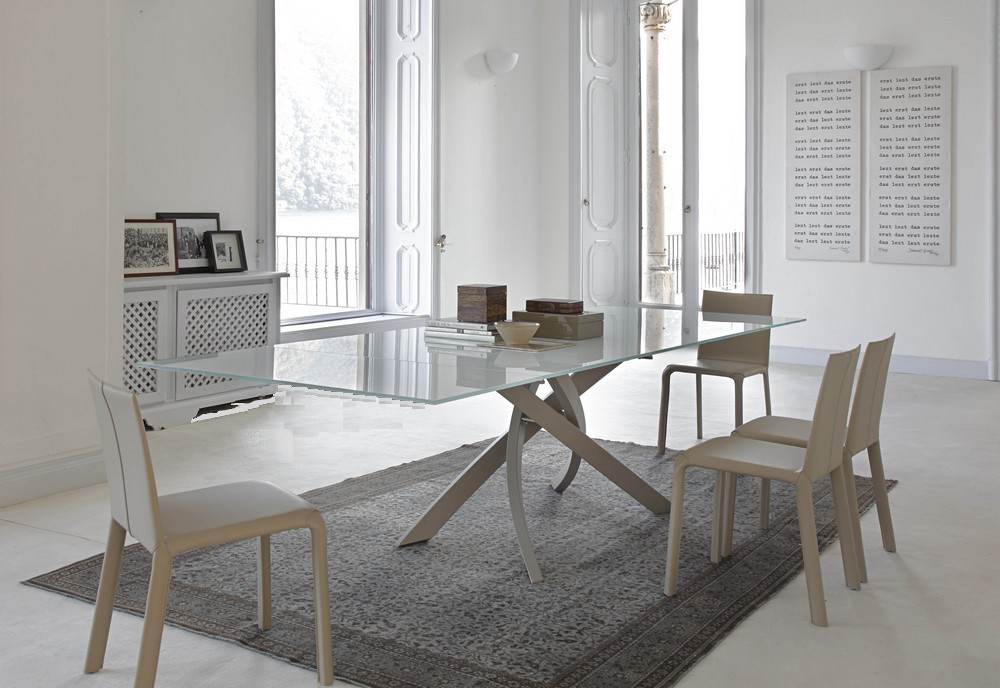 Tavoli Da Soggiorno In Cristallo: Tavolo da salotto rettangolare in cristallo...