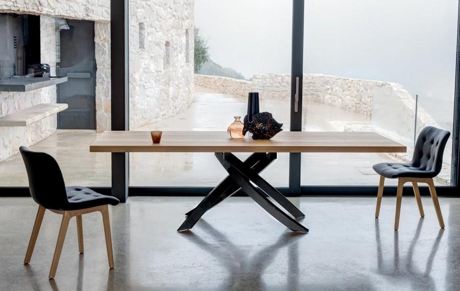 tavolo fisso e allungabile artistico bontempi design con