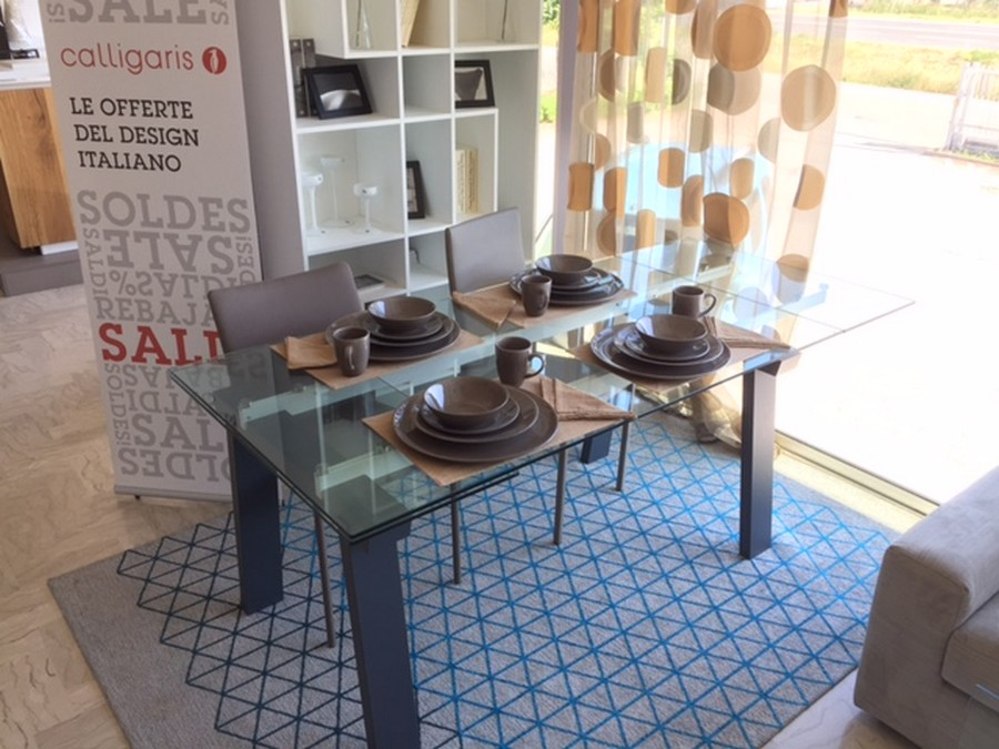 Offerta tavolo levante di calligaris allungabile con piano - Tavolo vetro allungabile calligaris ...