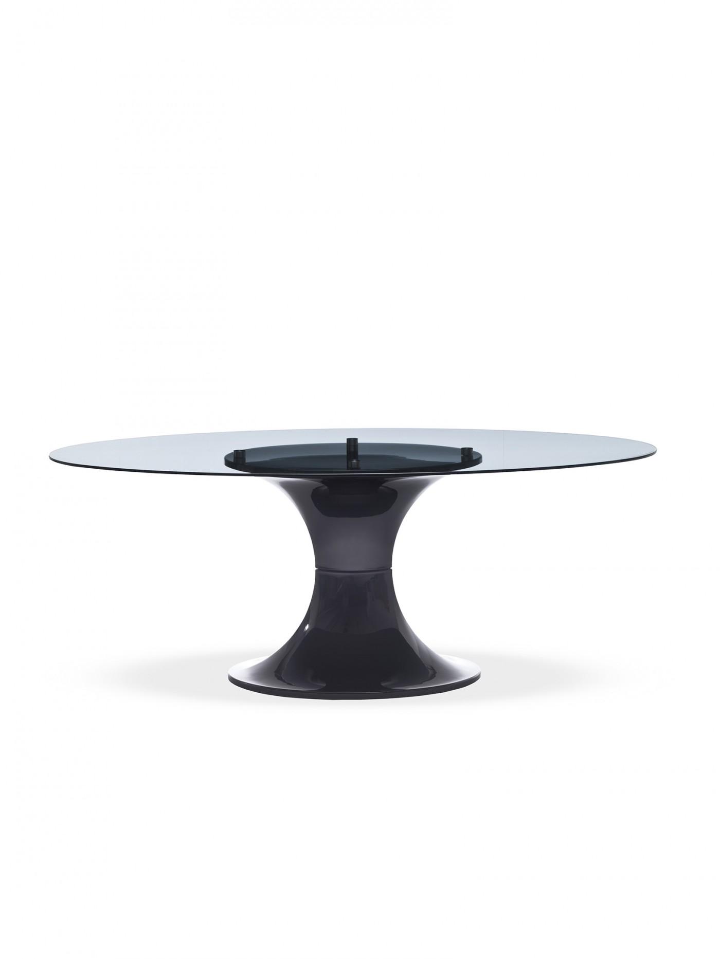 Tavolo london di midj ovale - Tavolo vetro ovale ...