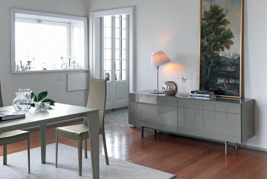 Cruz bontempi ausziehbarer tisch mit stahlstruktur glasplatte