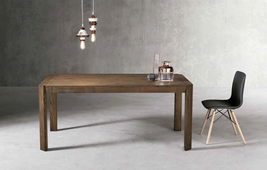 Tavolo moderno Frank rettangolare interamente in legno