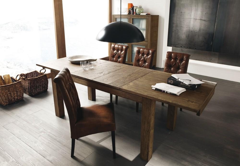 Tavolo nantes allungabile di altacorte in legno rovere moderno for Tavolo di legno allungabile