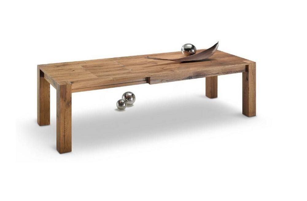 Tavolo allungabile nuova loggia in legno rovere anticato spaccato
