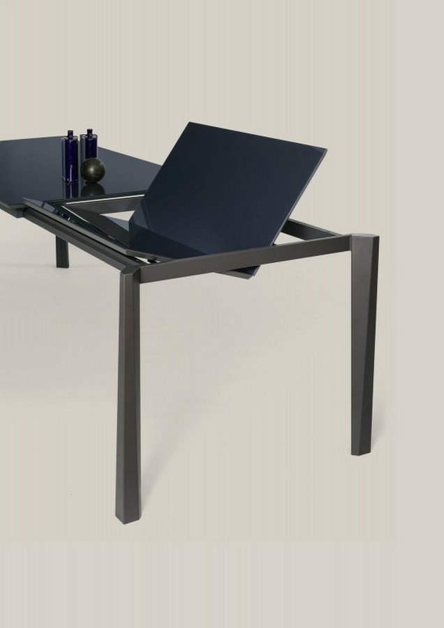Tavolo allungabile prisma di ingenia bontempi con piano in for Tavolo rettangolare allungabile