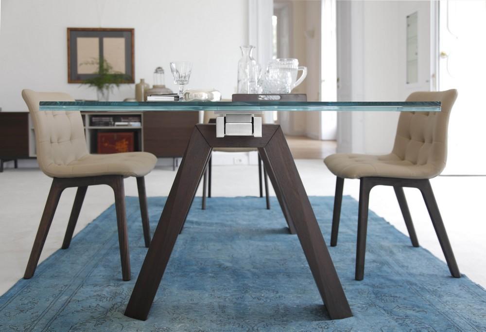 Tavolo fisso e allungabile Aron di Bontempi con struttura in legno ...