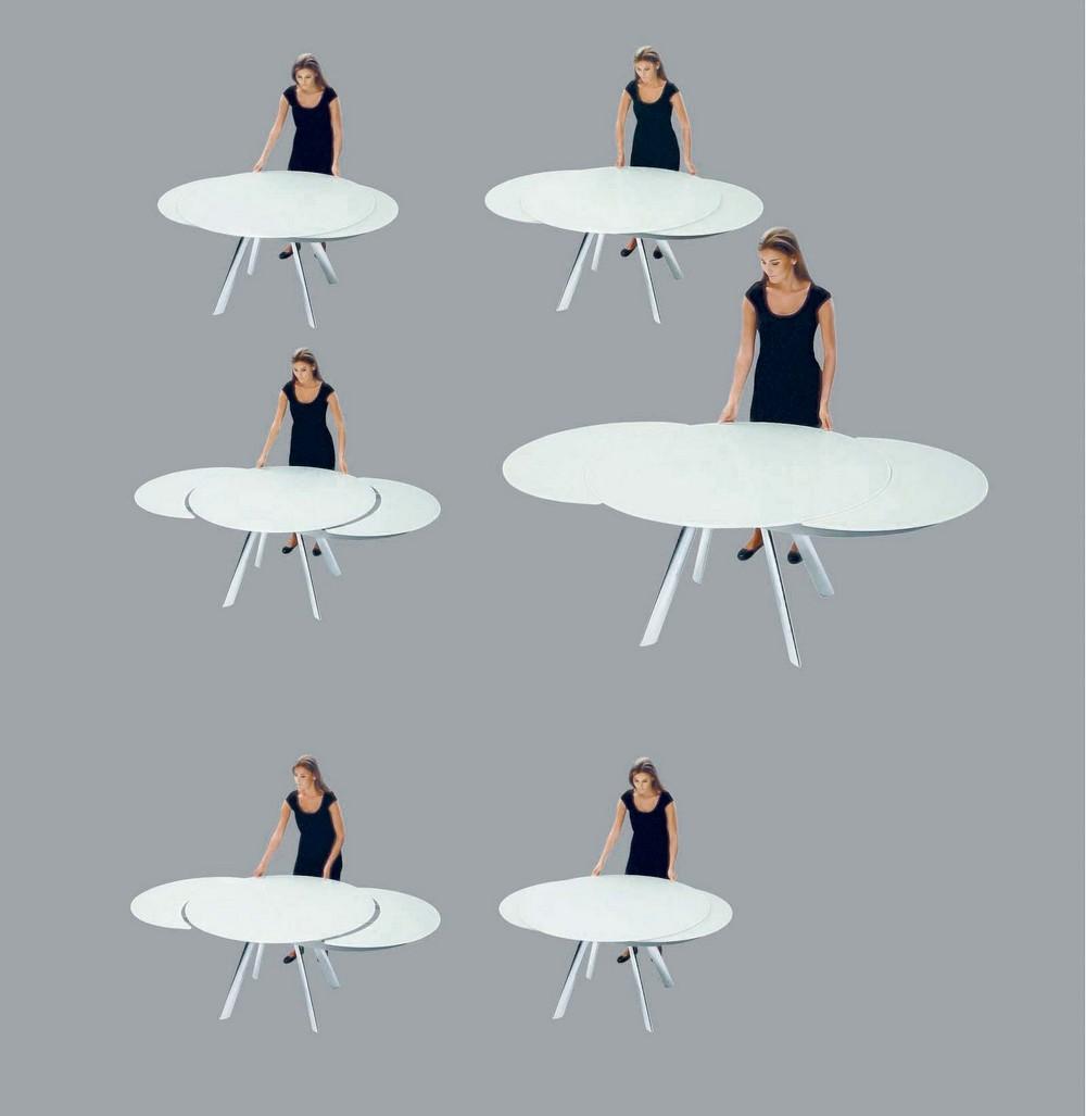 Tavolo rotondo allungabile moderno idee creative di for Tavolo cristallo rotondo design