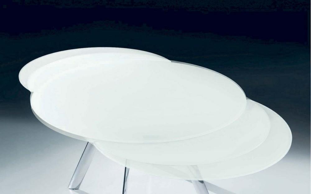 Tavolo tondo allungabile tavolino da salotto moderno | Zenzeroclub