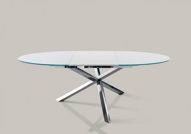 Tavolo allungabile e fisso rotondo trio di ingenia for Tavolo rotondo allungabile design moderno