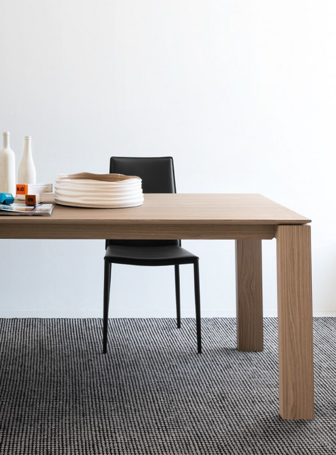 Tavolo sigma wood di connubia by calligaris allungabile for Tavolo allungabile calligaris