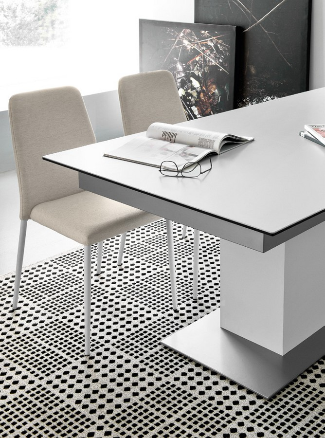 Tavolo sincro di connubia by calligaris allungabile con for Tavolo allungabile calligaris