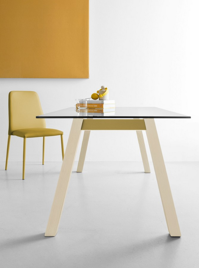 Tavolo fisso t table di connubia by calligaris con piano for Tavolo calligaris vetro temperato