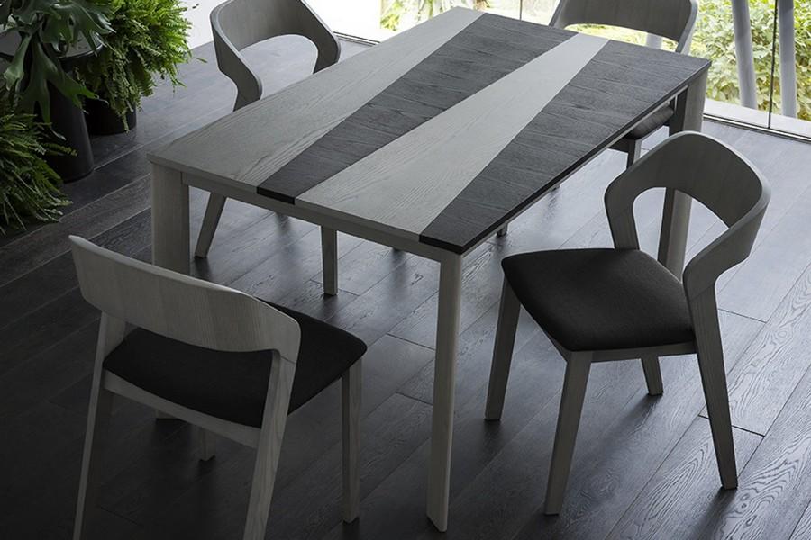 Tavolo allungabile taj di napol rettangolare - Tavolo legno e acciaio ...