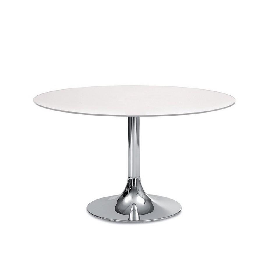 Tavolo tondo fisso corona di domitalia struttura in for Tavolo in vetro tondo
