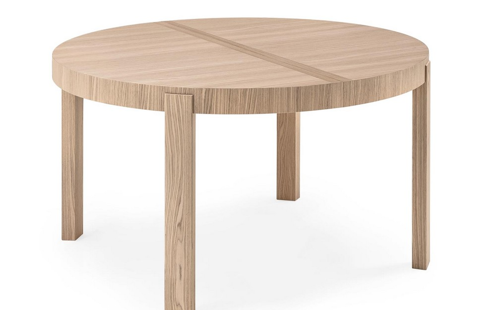 Tavolo rotondo atelier di connubia by calligaris in legno allungabile