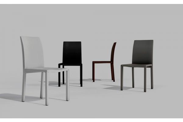 Sedie imbottite sedia in pelle ecologica o cuoio