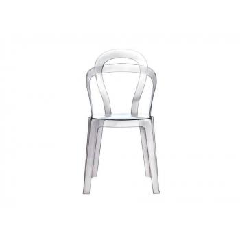 Sedia Titì di Scab Design impilabile trasparente