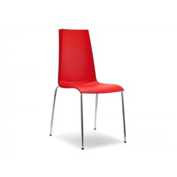 Sedia Mannequin 4 gambe impilabile in polipropilene rosso di Scab Design