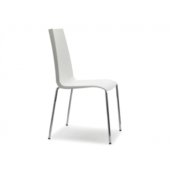 Sedia Mannequin 4 gambe impilabile in polipropilene Lino di Scab Design