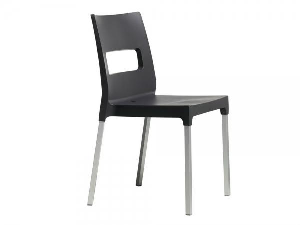 Sedia Maxi Diva impilabile di Scab Design in tecnopolimero antracite