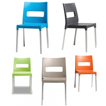 Sedia Maxi Diva impilabile di Scab Design in tecnopolimero