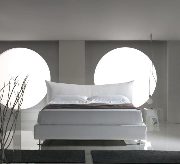 Letto Matrimoniale Di Design In Ecopelle.Letto Matrimoniale Gondola In Ecopelle Di Lettissimi Moderno