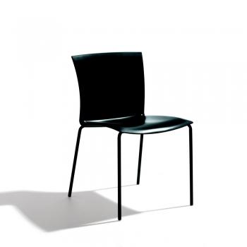 Sedia Futura con struttura laccata antracite e seduta polipropilene ANTRACITE