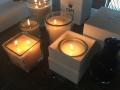 Candela di cera Oslo square di Cipì profumata per il bagno