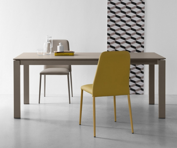 Tavolo allungabile 110 Baron di Connubia by Calligaris con piano in ...