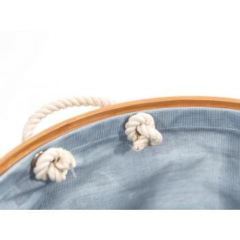 Cesta porta biancheria Apri-Chiudi Laundry Family di Cipì in tessuto e bamboo listellare