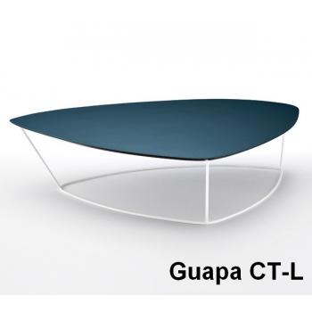 Coffee table Guapadi Midj con piano rivestito in cuoio