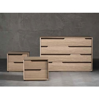 Comodino Fast a due cassetti in legno massiccio di Altacorte