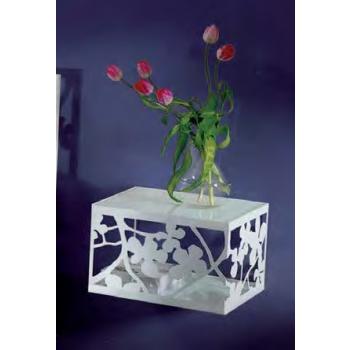 Comodino in ferro battuto Flower di Cosatto