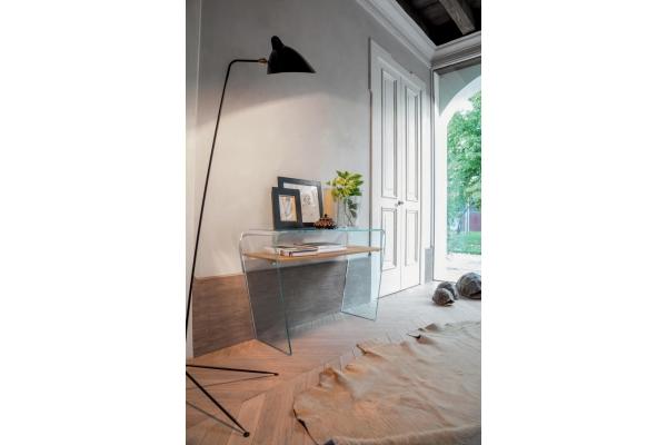 Consolle ventaglio con piano effetto legno di tonin casa for Consolle di design