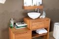 Consolle Pratico Console di Cipì in legno teak naturale trattato con cere protettive