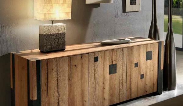 Credenza Da Salotto : Credenza da salotto o soggiorno a ante in legno rovere vecchio