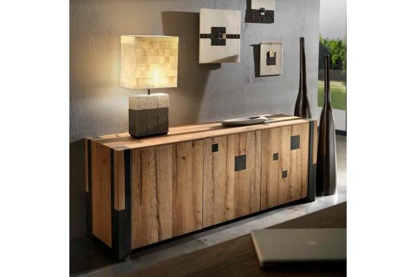 Credenza Da Design : Credenza da salotto o soggiorno a ante in legno rovere vecchio
