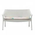 Divanetto Olimpo Sofa di Scab Design con cuscino in plastica impilabile
