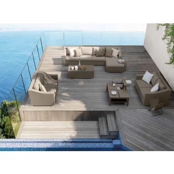 Divano componibile della linea Chic di Talenti per terrazze e giardini